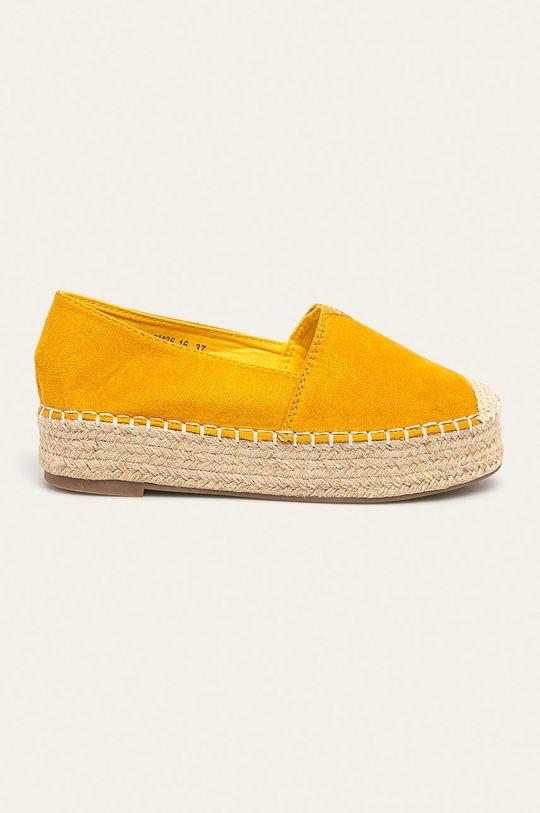 žlutá Answear - Espadrilky Dámský
