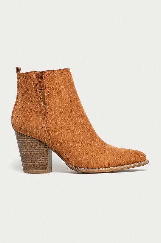 zlatohnedá Answear - Členkové topánky Answear Lab Dámsky