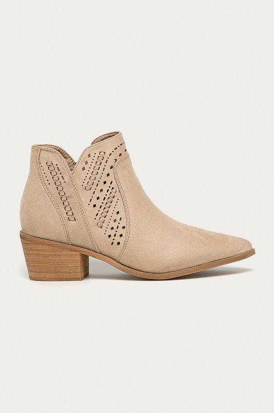 béžová Answear - Kovbojské topánky Bellucci Dámsky