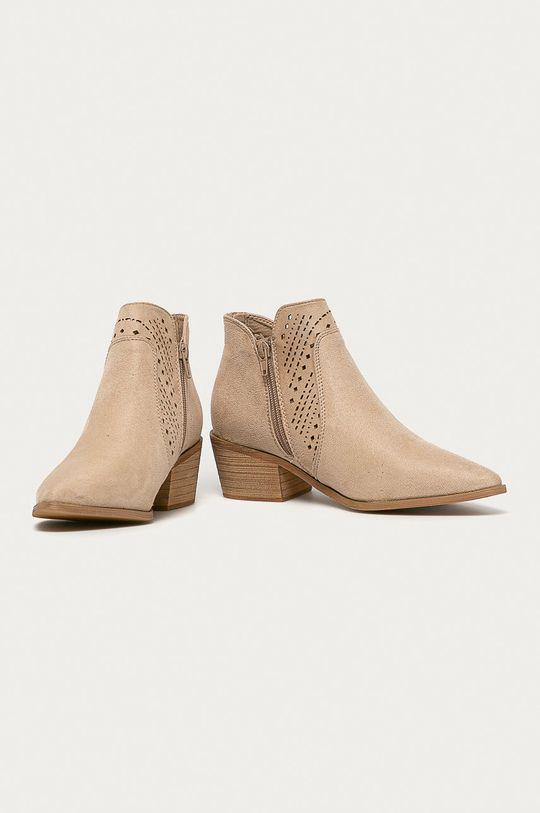 Answear - Kovbojské topánky Bellucci béžová