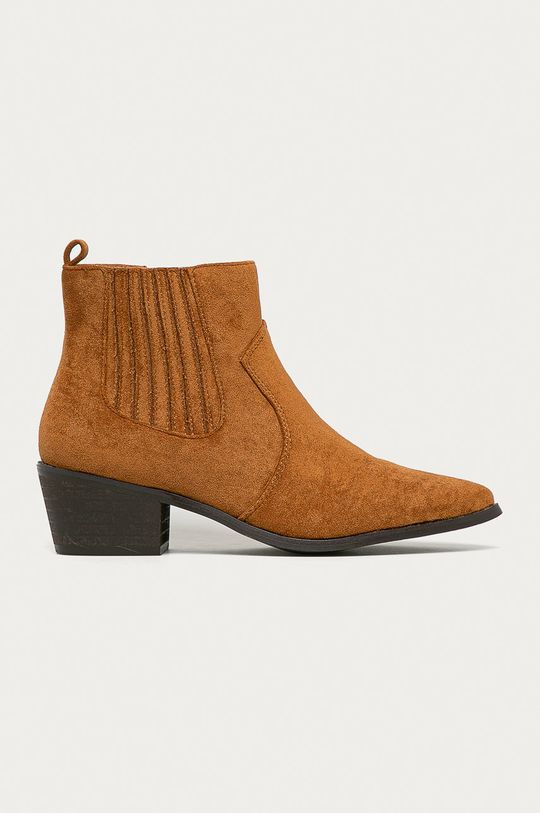 hnědá Answear Lab - Westernové boty Dámský