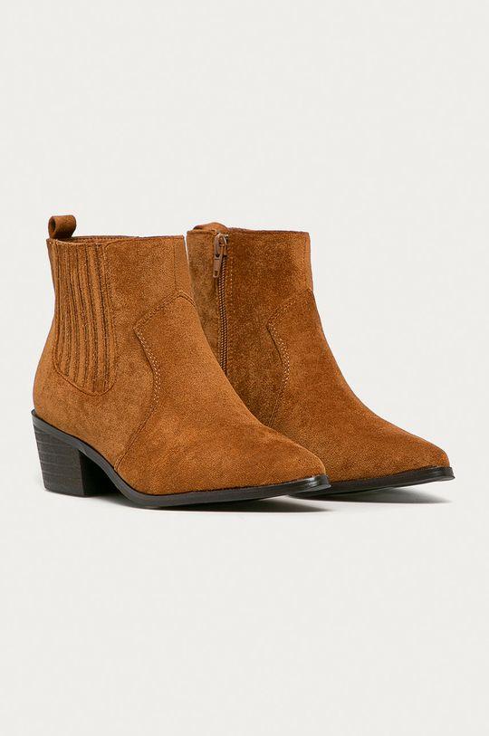 Answear Lab - Westernové boty hnědá