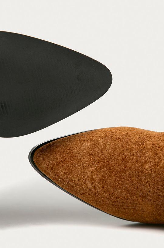 hnědá Answear Lab - Westernové boty