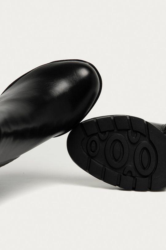černá Answear Lab - Boty s gumou Buonarotti