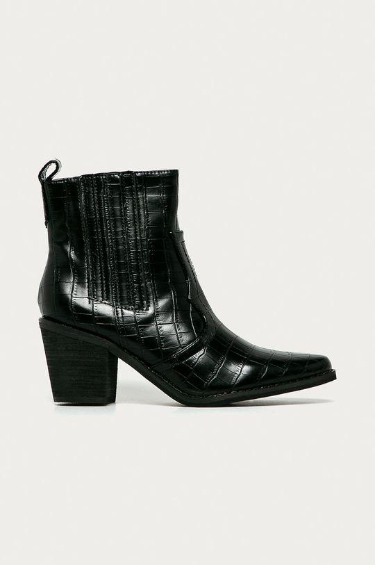 čierna Answear Lab - Kovbojské topánky Dámsky