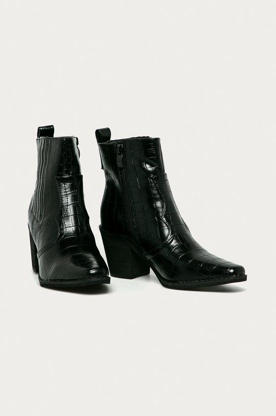 Answear Lab - Kovbojské topánky čierna