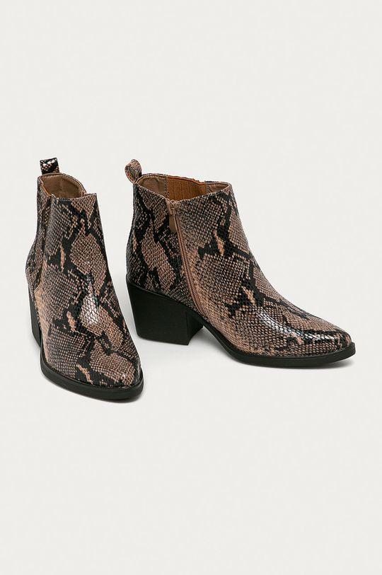 Answear Lab - Kovbojské topánky Mellisa hnedá