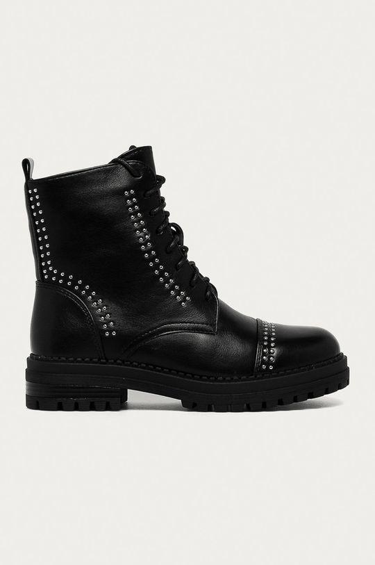 čierna Answear Lab - Členkové topánky Super Woman Dámsky
