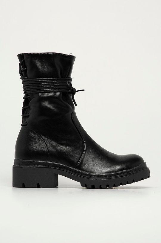 černá Answear Lab - Nízké kozačky Fly Shoes Dámský
