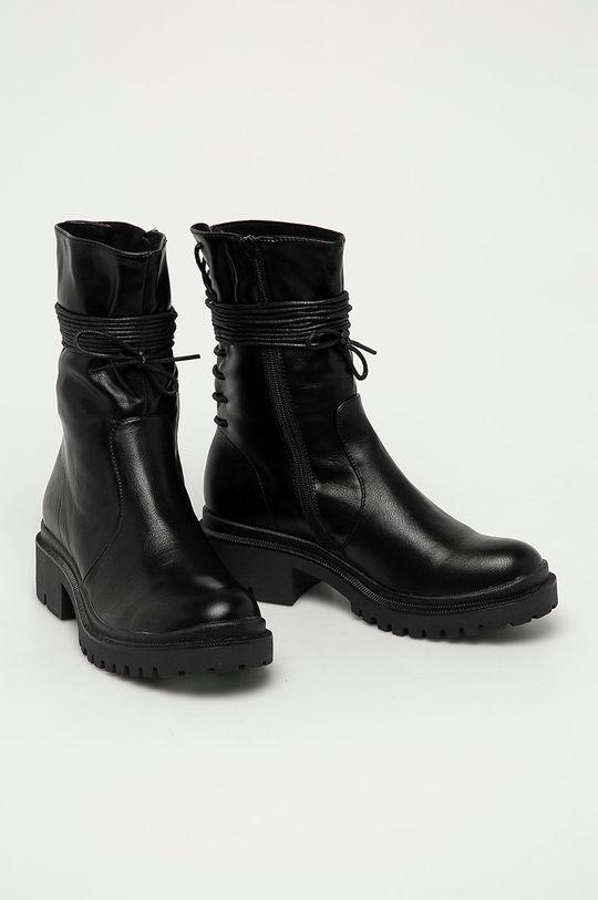 Answear Lab - Nízké kozačky Fly Shoes černá