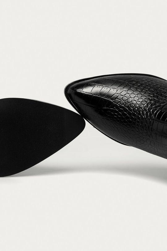 černá Answear Lab - Nízké kozačky Tulipano