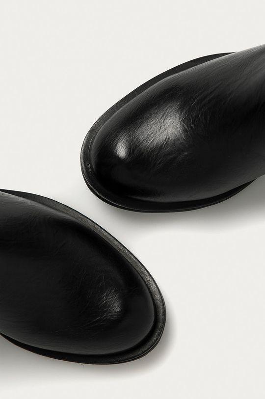 černá Answear Lab - Nízké kozačky RENDA