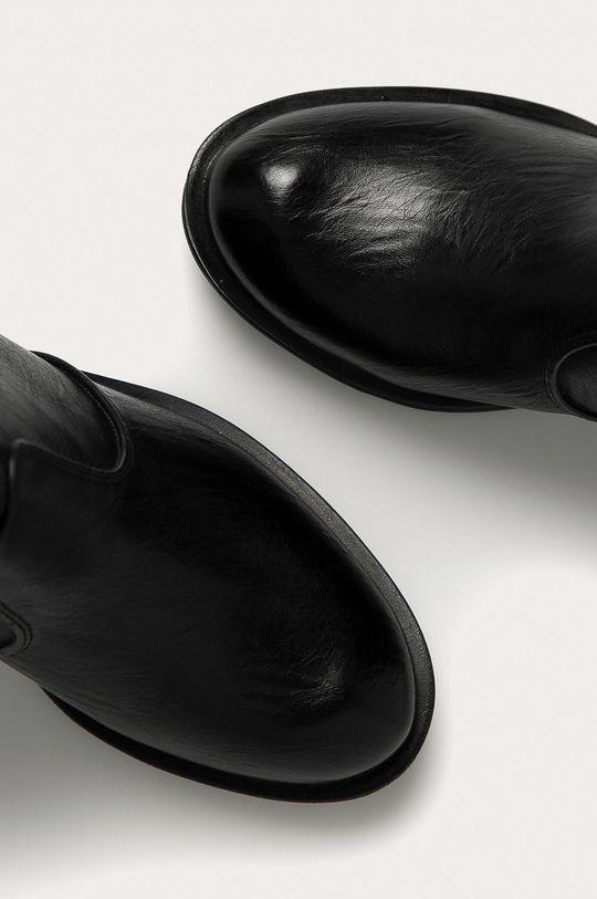 czarny Answear Lab - Botki Renda