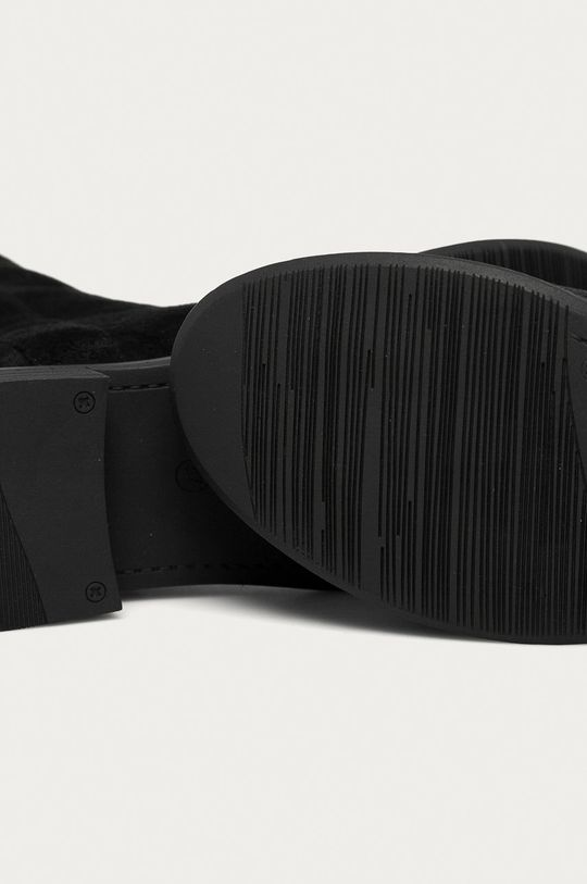 černá Answear Lab - Nízké kozačky Fly For