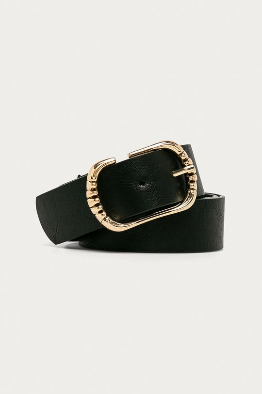 čierna Answear - Kožený opasok Amswear Lab Dámsky