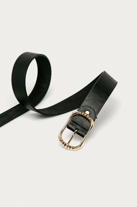 Answear - Kožený opasok Amswear Lab čierna