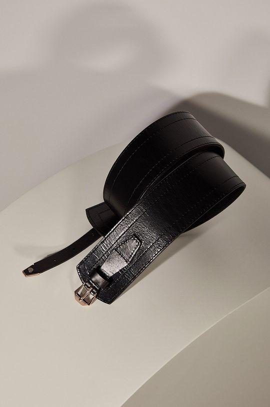 Answear.LAB limitovaná kolekcia - Kožený opasok čierna