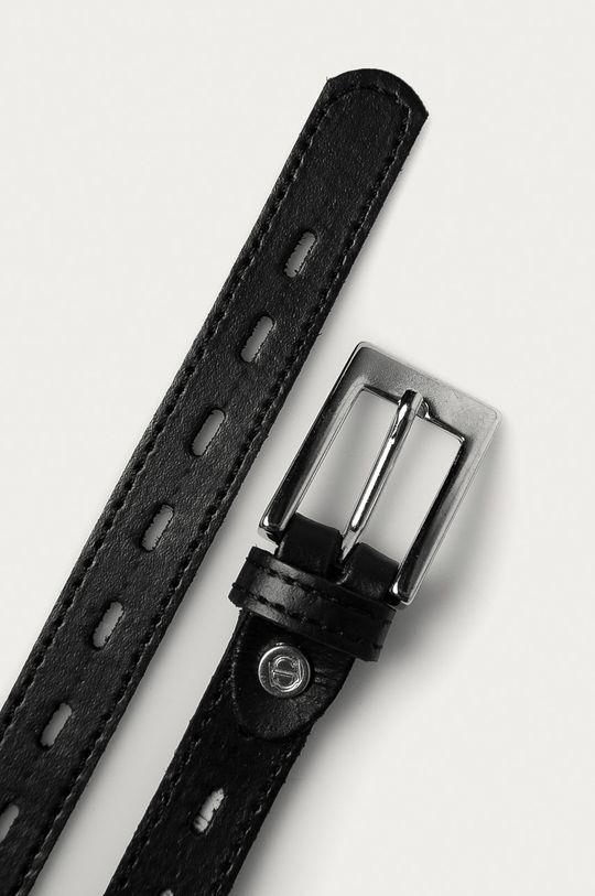 Answear Lab - Kožený pásek černá