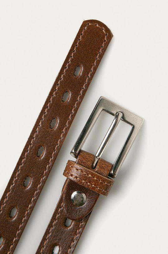 Answear Lab - Kožený pásek kaštanová
