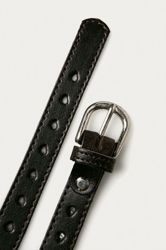Answear Lab - Kožený pásek hnědá
