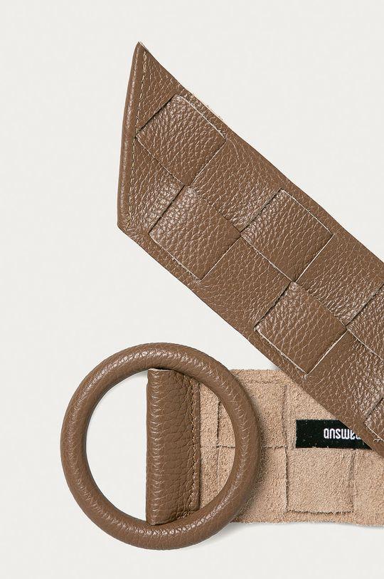 Answear Lab - Kožený pásek béžová