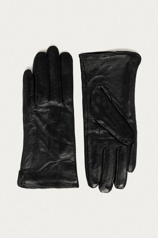 černá Answear Lab - Kožené rukavice Dámský