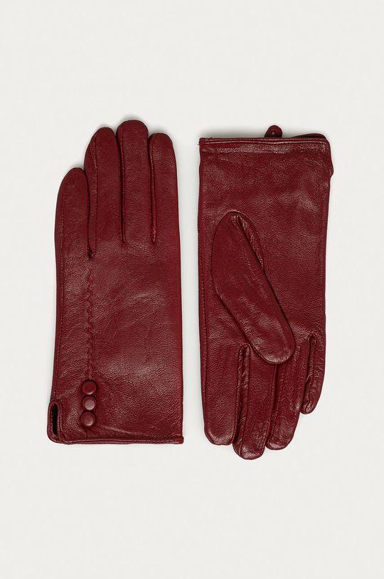červená Answear Lab - Kožené rukavice Dámský