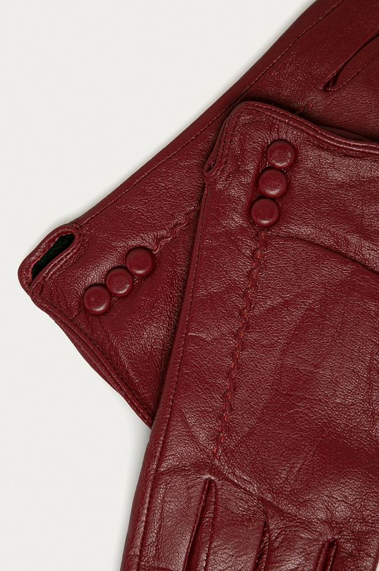 Answear Lab - Kožené rukavice červená