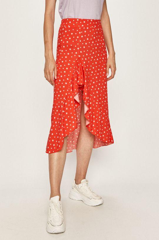 czerwony Answear Lab - Spódnica Damski