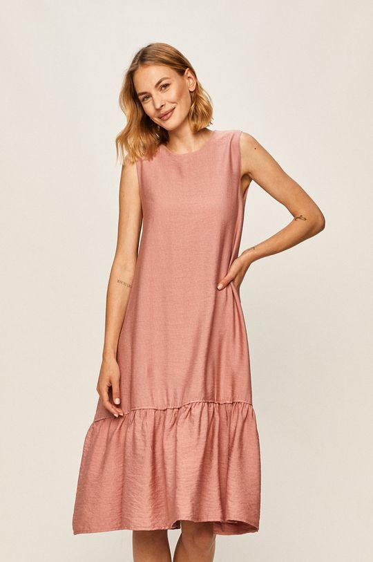 růžová Answear - Šaty