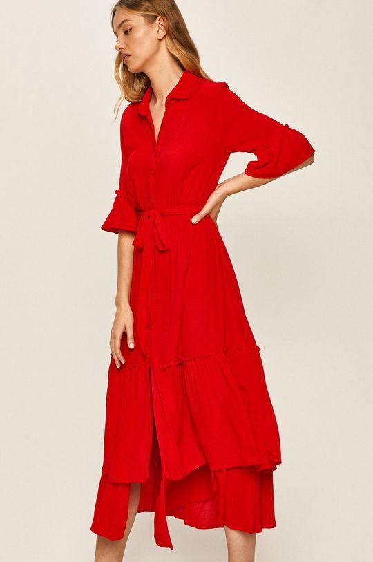 červená Answear - Šaty Dámský