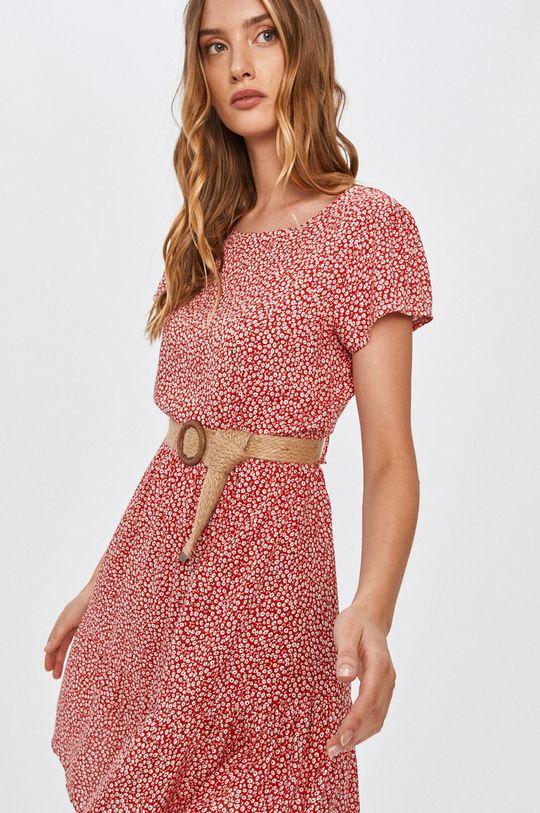 červená Answear - Šaty Answear Lab Dámsky