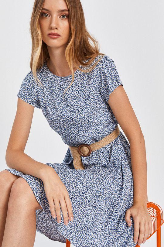 modrá Answear - Šaty Answear Lab Dámsky