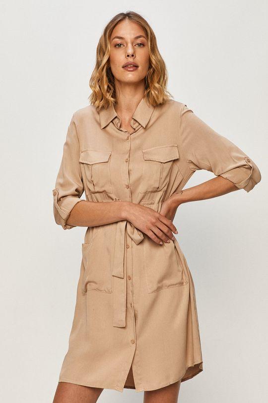 beżowy Answear - Sukienka Answear Lab Damski