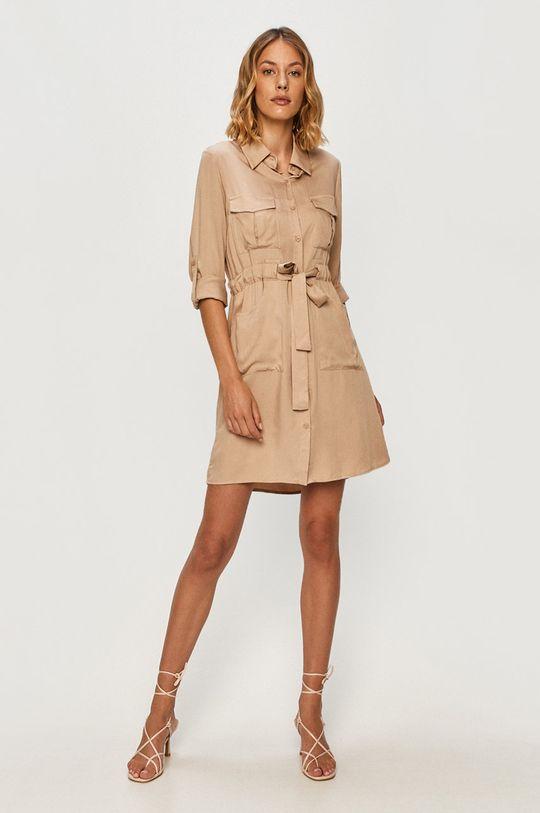 Answear - Sukienka Answear Lab beżowy