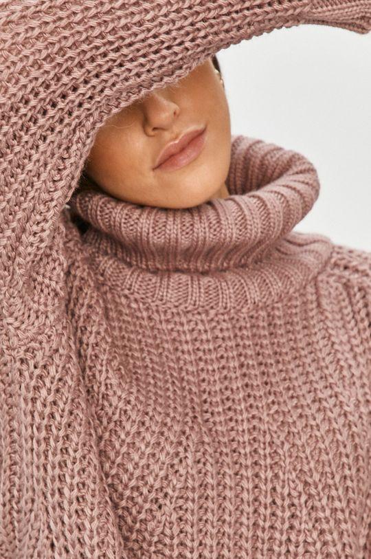 różowy Answear Lab - Sweter Damski