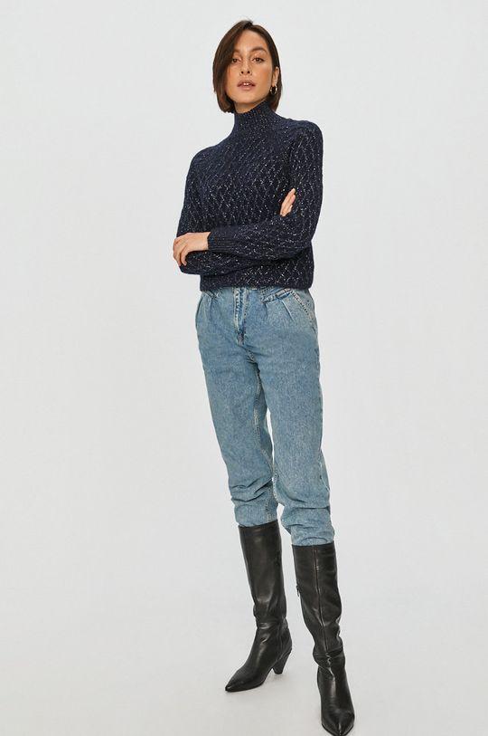 Answear Lab - Sweter granatowy