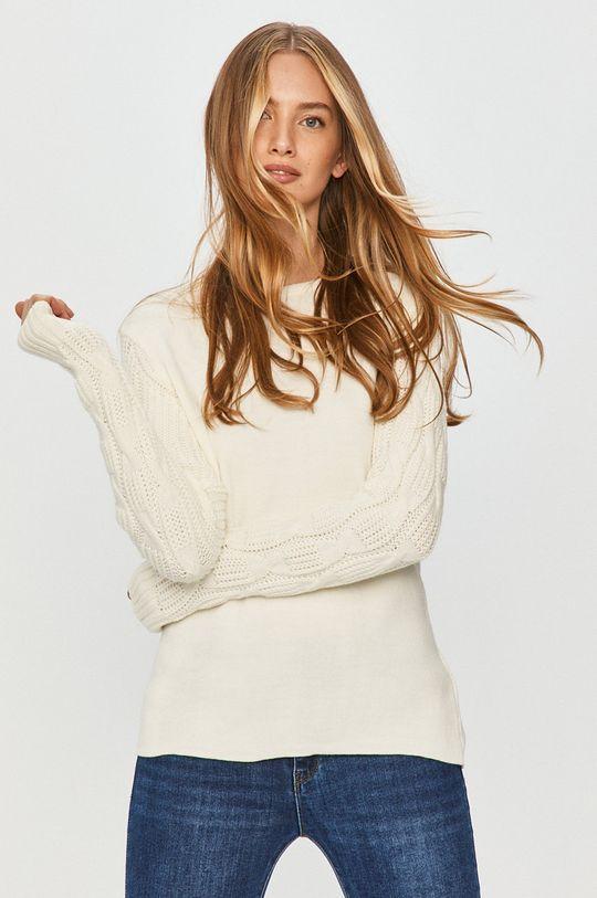 kremowy Answear Lab - Sweter Damski