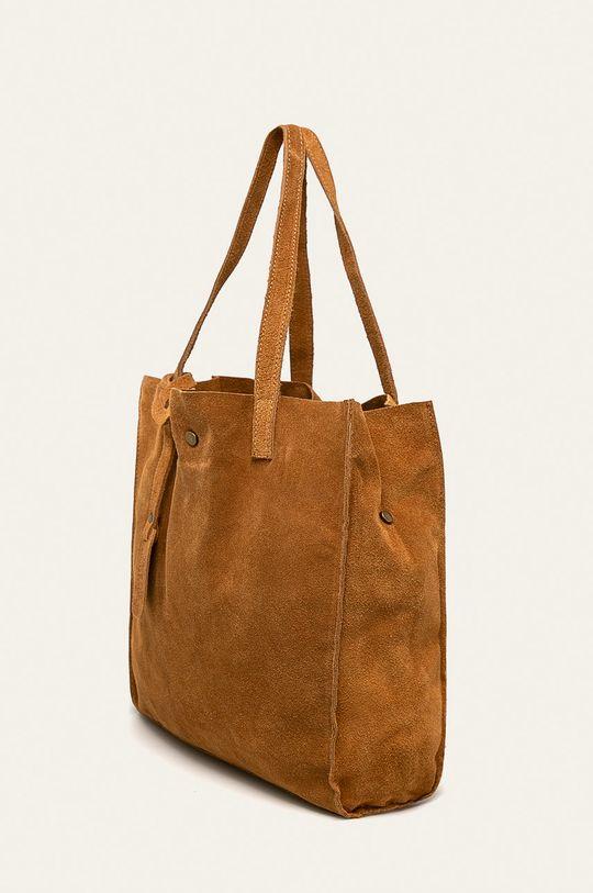 Answear - Kožená kabelka zlatohnědá