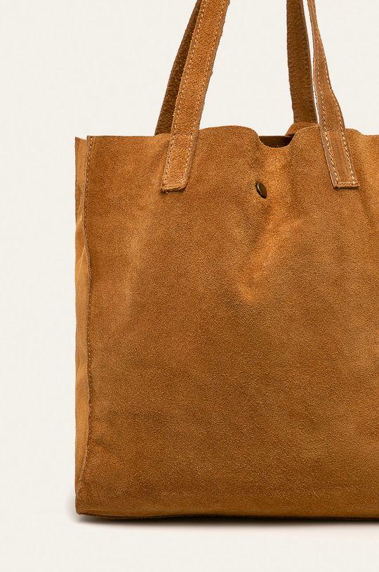 Answear - Kožená kabelka  100% Semišová kůže
