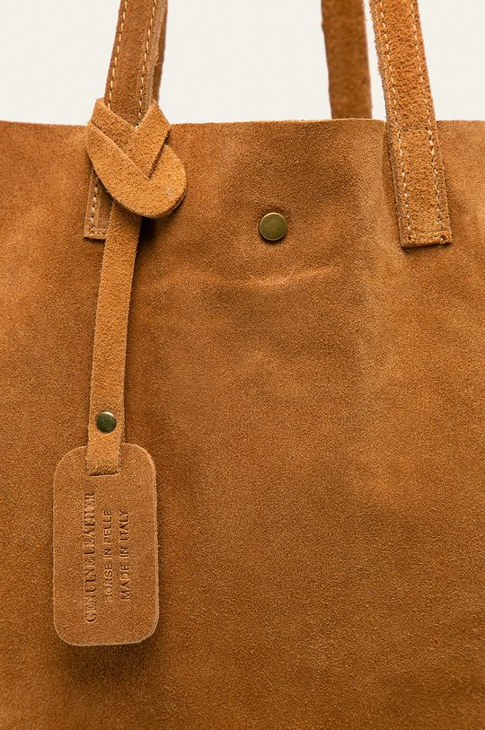 zlatohnědá Answear - Kožená kabelka