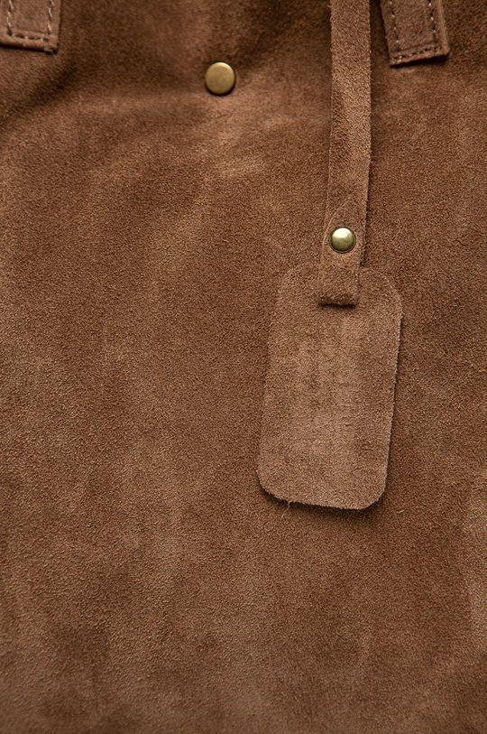 Answear Lab - Kožená kabelka hnědá