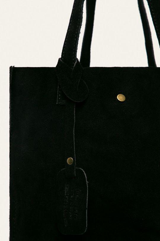 Answear - Kožená kabelka černá
