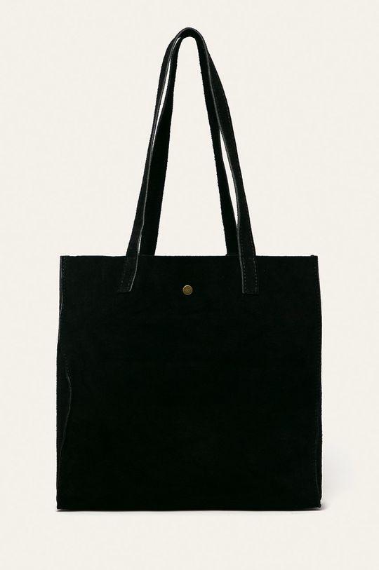 černá Answear - Kožená kabelka