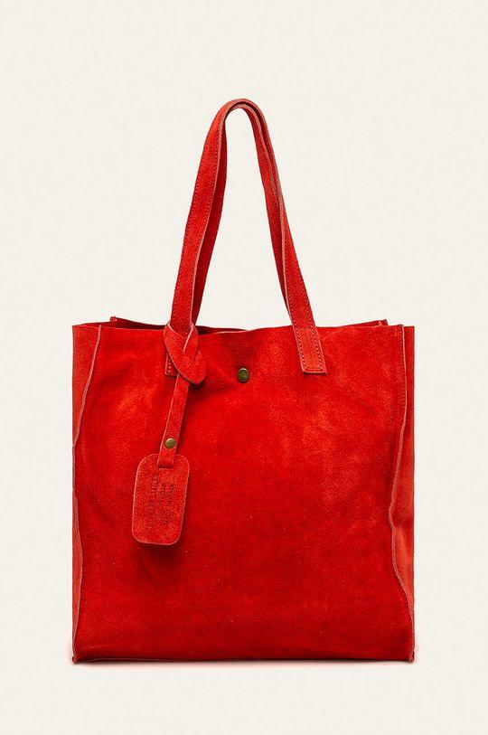 červená Answear - Kožená kabelka Dámský