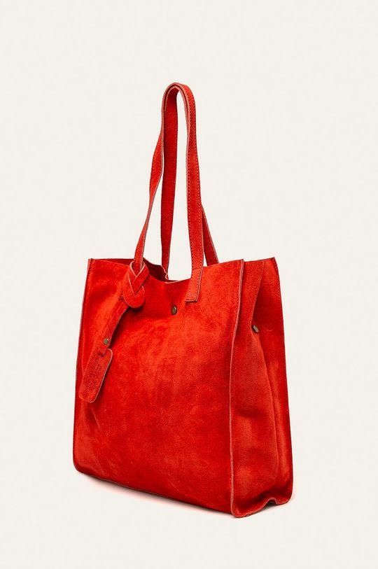 Answear - Kožená kabelka červená