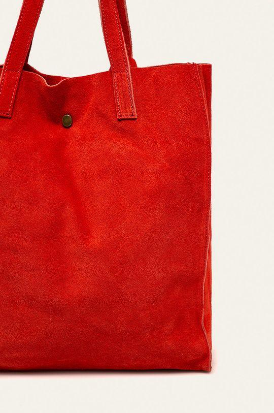červená Answear - Kožená kabelka