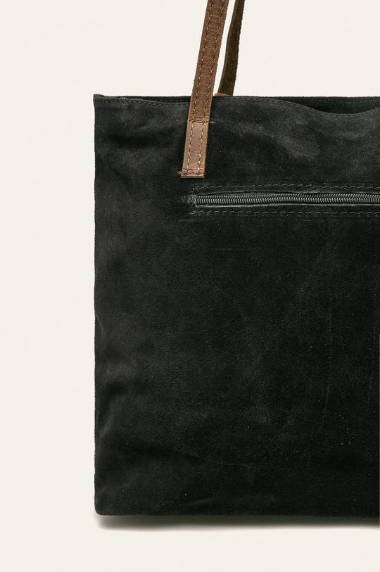 czarny Answear - Torebka skórzana