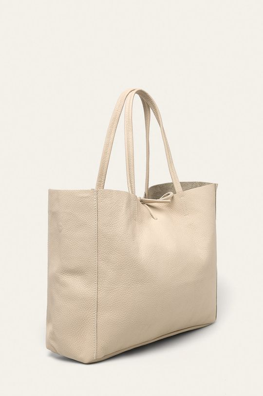 Answear - Kožená kabelka béžová