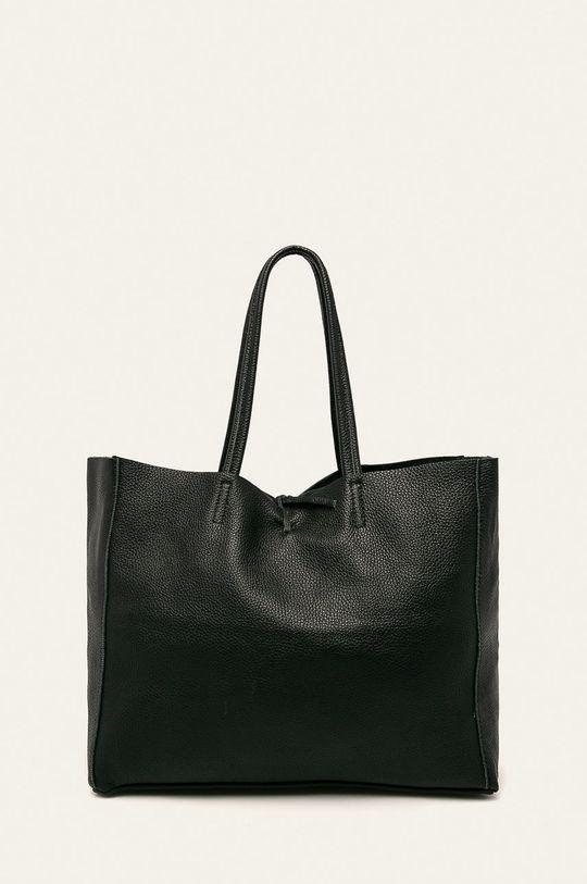 černá Answear - Kožená kabelka Dámský